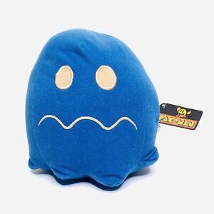 Pac-Man Vulnerable Ghost Blue Bandi Namco Plush Toy NWT