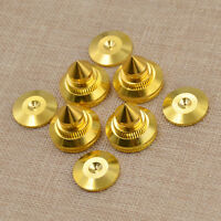 New Speaker Isolation Pad Spike Cone Base For DAC CD Player Set Brass 28x25mm