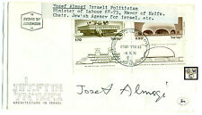 First Day Cover Signed by - Yosef Almogi  , Israeli Politician