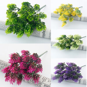 Plastic Outdoor Flower Fake false Plants  Artificial pine cone Heather uk #238