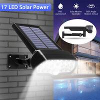 Outdoor Adjustable Solar Power LED Light PIR Motion Sensor Spot Garden Wall Lamp