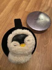 Coach Boxed Penguin Shearling Earmuffs