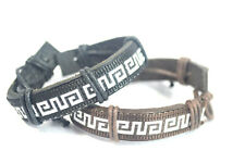 Fashion Punk Rock Handmade Tribal Braided Leather Mens Women Adjustable Bracelet