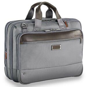 Briggs & Riley Medium Messenger Briefcase Laptop Bag 42 cms Grey BNWT RRP £279