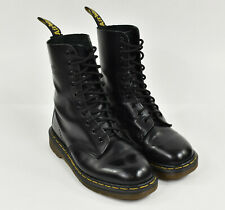 DR MARTENS England Black Smooth Leather 1490 10 Eyelet VINTAGE CALF BOOT US 8