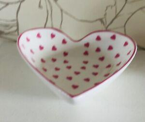 Nina Campbell Pink Hearts Small Heart shaped trinket bowl dish