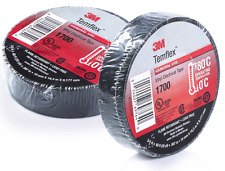 """3M TEMFLEX 1700 ELECTRICAL TAPE BLACK 3/4"""" x 60 FT INSULATED ELECTRIC 2 ROLLS"""