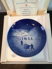 "Nib 1972 B&G 7-1/4"" Bing & Grondahl ""Christmas In Greenland"" Collectors Plate"
