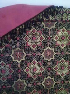 Thai batik designer patchwork throw and cushion set