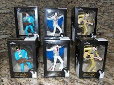 HUGE LOT of (6) Elvis Presley Christmas Ornaments-Blue, White & Gold Costumes