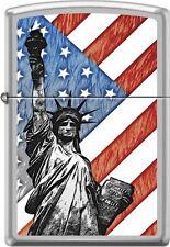RARE Zippo cm7619 statue of liberty american flag usa Lighter
