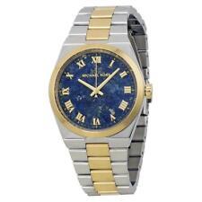 Michael Kors MK 5893 Channing Silver Tone Lapis Blue Dial Ladies Watch rrp £259