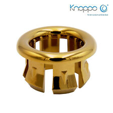 KNOPPO® Waschbecken Überlauf Abdeckung / Design Überlaufblende - Ring (gold)