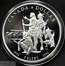 1990 Canada $1 Proof Silver Dollar