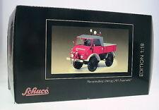 1:18 Schuco MB Unimog 401 Pr Softtop / Feuerwehr