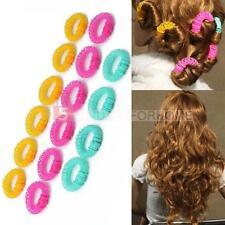 Hairdress Magic Bendy Hair Styling Roller Curler Spiral Curls DIY Tool 16 Pcs