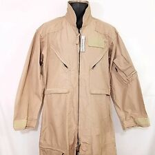 US Military Coveralls Army USMC Jumpsuit CWU 27P Tan Flyers Flight Suit 44 S
