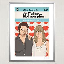 Serge Gainsbourg & Jane Birkin  Je T'aime Ltd Ed 30cm x 40cm Print Psych 60s