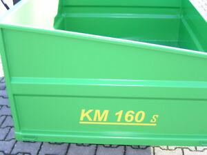 Heckcontainer, Kippmulde, Traktor, Schlepper KM 160 s