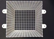 Steel Mesh Cage 12 inch White Square Protect CCTV Camera External PIR Flood Ligh