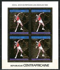 Centre Afrique Olympic games JO Los Angeles 1983 Gold Foil MICHEL 968 A cote 60e