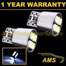 2x W5w T10 501 Canbus Error Free Blanca 4 Led Smd Cola Trasera bombillas tl101901