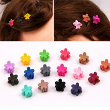 10pcs Cute Small Plastic Flower Hair Clips Hairpin for Kids Claws Clamps Random