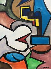 Art abstrait gouache Jungo 2ème moitié XXème