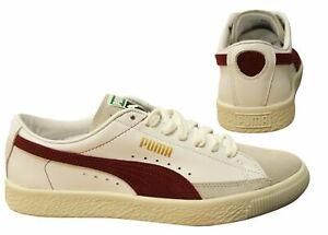 Puma Basket 90680 White Leather Nubuck Lace Up Mens Trainers 365944 04 B124C