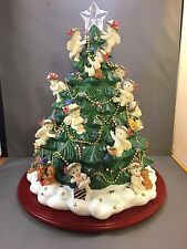 "2001 DANBURY MINT LIGHT UP DREAMSICLES BABY ANGELS CHRISTMAS TREE 12"" TALL"