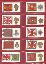 MILITARY - SET OF 50 PLAYER'S ' REG. STDS  &  CAP  BADGES ' CARDS - REPRINTS