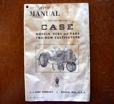 Case VCB2 and VAH2 2-Row Cultivators Operator's Manual