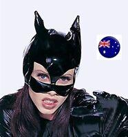 NEW Women Batman Bat Man Cat Synthetic leather Party Costume Black Eye Face Mask