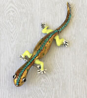 Unique Lizard will movable tail Brooch pin in enamel on metal