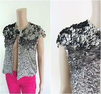 ex Zara Vest Sequin Embellished Occasion Bolero