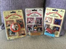 Wallace And Gromit Vintage Set Of Airfreshners X 3 - 1989.