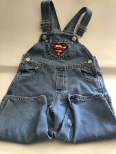 EUC_Superman_Superbaby_Carpenter Denim Overalls Warner Bros Studio_size 24 mos