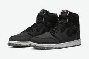 Nike Air Jordan 1 High Zoom Air Black Multi Size US Mens Athletic Shoes Sneakers