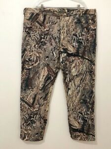 Drake Waterfowl Systems Mossy Oak Duck Blind Fleece Lined Camo Pants 2XL 44-46