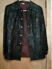 Womens Genuine Leather Coat/Jacket (Size Small) Retro/Vintage 70'S