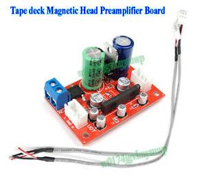 KA22241 Stereo Tape deck Magnetic Head Preamp Preamplifier Board w Shielded wire