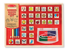 Melissa & Doug Wooden Stamp Set, Favorite Things - New - Factory Sealed!