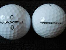"""20 MAXFLI  """"POWERMAX SOFT SPIN"""" - BLACK NUMBERS - Golf Balls - """"PEARL/A"""" Grades."""