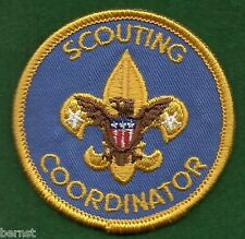 BOY SCOUT ADULT POSITION PATCH - SCOUTING COORDINATOR - WHITE BACK