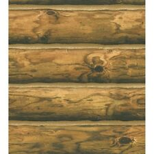 CH7980 Mountain Logs Cabin Lodge Wallpaper