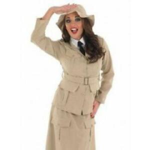 Quality Adult Ladies Safari Explorer Girl Costume Jungle Fancy Dress