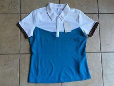 NIKE GOLF Womens Sporty Tech Polo Shirt-Neo Turq/White-Medium-NWT