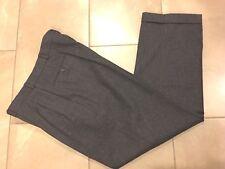 POLO RALPH LAUREN Dress Pants Pleated Front Gray Wool Feel Men 35W 30L    (R316)