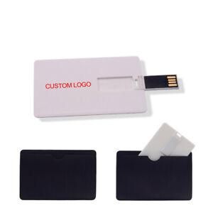 Custom Business wedding logo USB Flash card 2.0 flash Memory External pen drive