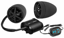 BOSS MCBK600B 800w ATV/Motorcycle Bluetooth Handlebar Speakers+Amplifier - Black